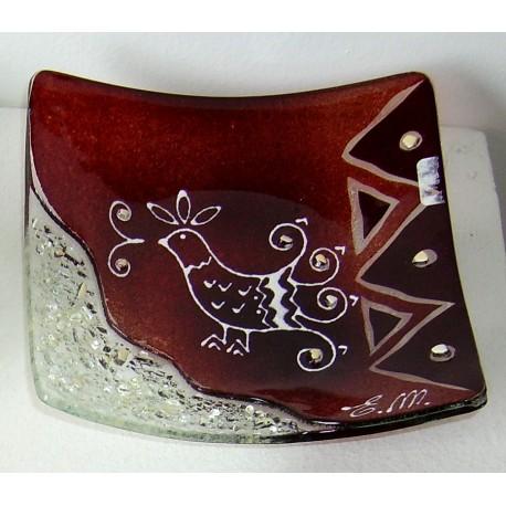 Piattino Decorato cm 11x11 artigianato sardo