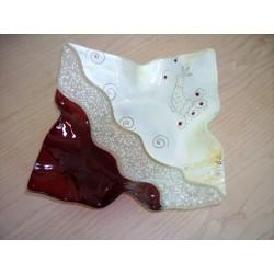Vassoio in vetro due modelli artigianato sardo